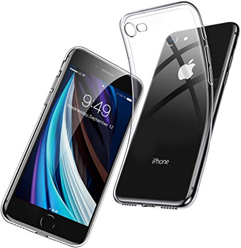 Humixx iPhone SE 2020 Hülle, iPhone 8 Hülle, iPhone 7 Hülle, Anti-gelb TPU Silikon Stoßfest, Anti-Fingerabdruck, Anti-Scratch Transparent Soft Hülle Crystal Clear Handyhülle für iPhone SE/8/7-Klar