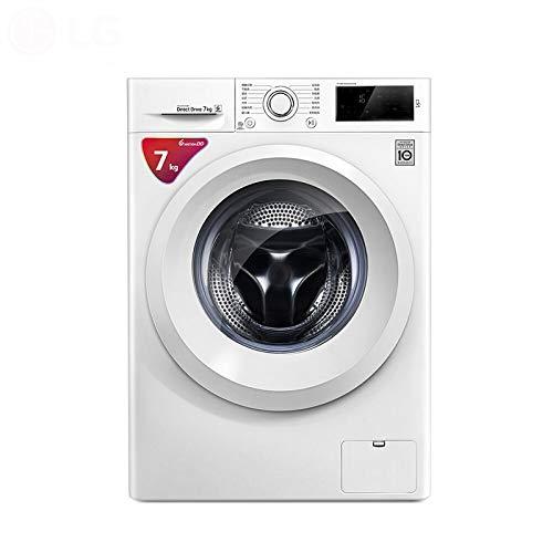 Lavadora LG 7 公斤 DD 变频 直 驱 全自动 滚筒 洗衣机 450mm 纤薄 机身 智能 手洗 静音 奢华 白 WD-L51HNG20, 系列: 7 kg 超薄 变频 直 驱 (Color : 9kg)