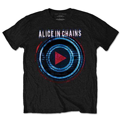 Alice In Chains Herren-T-Shirt, kurzärmelig Gr. XL, Schwarz