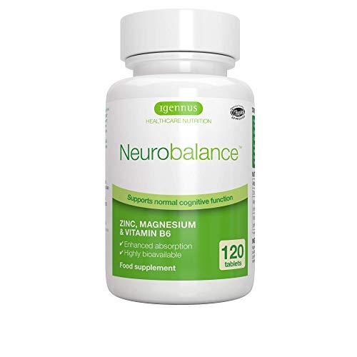 Neurobalance Zmb6 - Integratore di zinco picolinato, magnesio citrato e vitamina B6 per l'equilibrio ormonale e una maggiore energia, 120 compresse