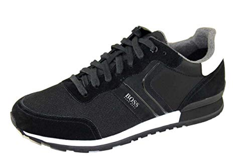 BOSS Herren Parkour Runn Sneakers im Laufschuh-Stil aus Veloursleder und Mesh Größe 39