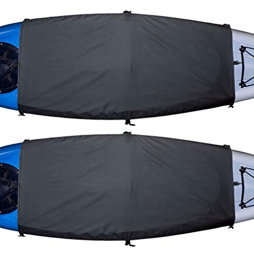 Explore Land Universal Kayak Cockpit Drape Waterproof Seal Cockpit Cover for Indoor and Outdoor - Large (60 x 29 inches) 2 Pack