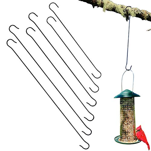 Evelots Tree Hanging Hook-Metal- Up to 17 Inches-Bird Feeder/Plant-No-Tool-Set/6