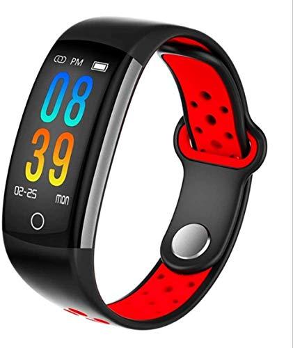 Nuevo reloj deportivo impermeable de fitness pulsera inteligente de presión arterial pulsera de fitness unisex impermeable de color rojo
