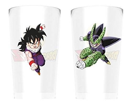 GB Eye LTD,Dragon Ball Z, Gohan Vs Cell, Set de 2 Verres