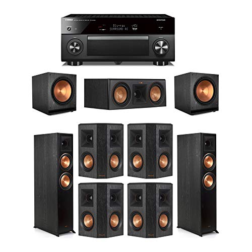 Great Deal! Klipsch 7.2 Ebony System - 2 RP-6000F,1 RP-500C,4 RP-402S,2 SPL-150,1 RX-A3080 Receiver