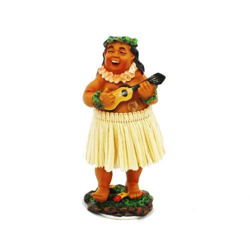 Exotenherz.de - Figurita hawaiana para el salpicadero, diseño de hawaiano con ukulele