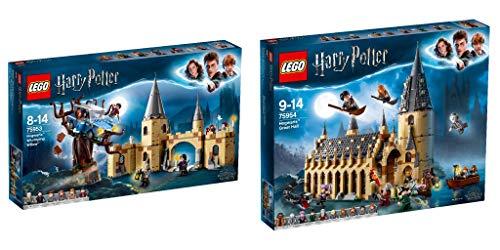 Lego® Harry Potter 2er Set: 75953 Die Peitschende Weide von Hogwarts + 75954 Die große Halle von Hogwarts
