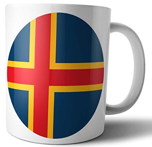 Aland Islands Flagge – Tee – Kaffee – Tasse – Tasse – Geburtstag – Weihnachten – Geschenk – Secret Santa – Strumpffüller