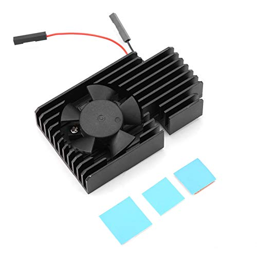 DFKEA Kit de Ventilador de refrigeración para Raspberry Pi, Ultimate 3510 Kit de Ventilador de refrigeración con disipador de Calor para la última Raspberry Pi 3B +