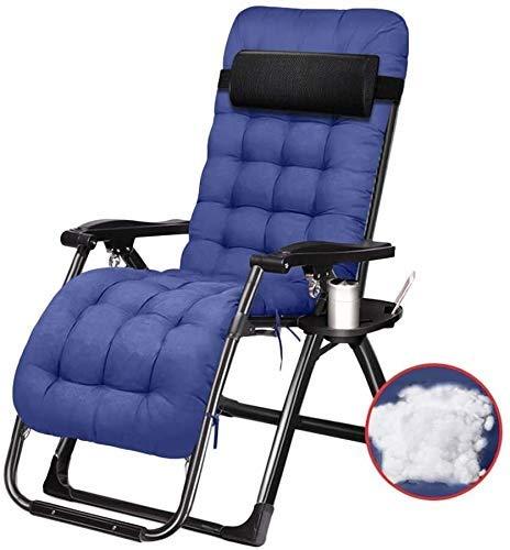 Silla de gravedad Reclinamiento de silla plegable al aire libre Silla de salón jardín al aire libre Patio SunLoungers, sillón de cubierta reclinable plegable, soporte 200 kg (color: b) Para el hogar,