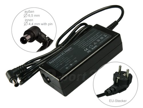 Mitsuru® 75W 19,5V Cargador AC Adaptador para Sony VAIO Fit 15SVF15A1Z2E Fit 15SVF1521N4E Fit 15SVF1521C2E Fit 15E SVF1532W4EB.G4e serie SVE1713U1E e serie SVE1713Q1E e serie SVE1713A6E F
