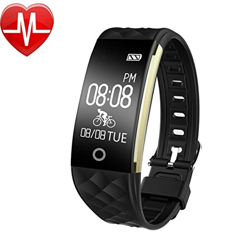 Fitness Bracelet, Waterproof Fitness Tracker Heart Rate Monitor Smart Bracelet Activity Tracker with Heart Rate Monitor Sleep Monitoring Calorie Track Pedometer Bike Mode for Android ios cellphone