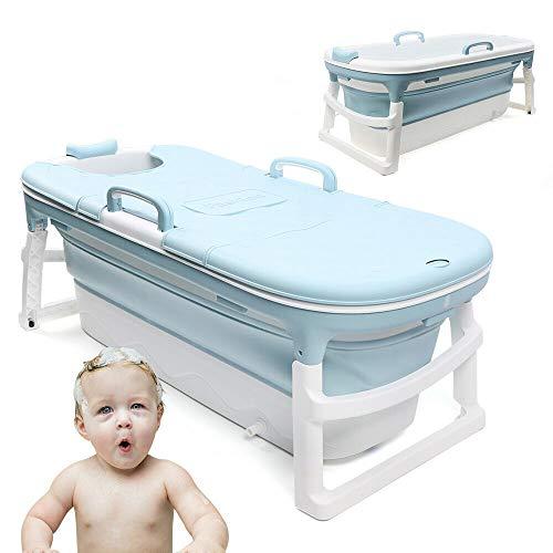 DNYSYSJ Adult Fordable Bath Tub , Extra Large Portable Bathtub for Adults with Lid ,Handle, Drain Hose,Thickened Home Bath Barrel for Bathing