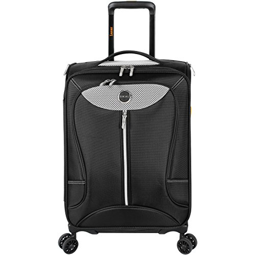 Lucas Luggage Adrenaline 27 inch Large Softside Expandable Spinner Suitcase (27in, Gray)