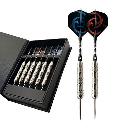 N/D Darts Set Profi Dartpfeile mit Metallspitze, Dartpfeile Steel mit Aluminium Darts Schäfte, Dart Spitzer