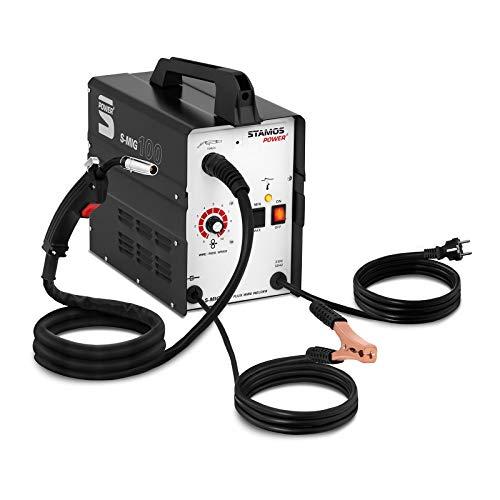 Stamos Power² S-MIG 100 Fülldraht-Schweißgerät FCAW 90 A Schweißstrom Schweißgerät Fülldraht MIG MAG