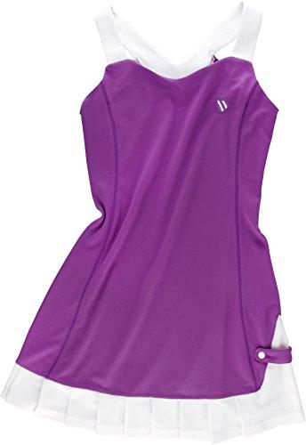 K-Swiss Kleider Bigshot II V-Dress Women - Vestidos de Tenis para Mujer, Color Morado/Blanco, Talla S
