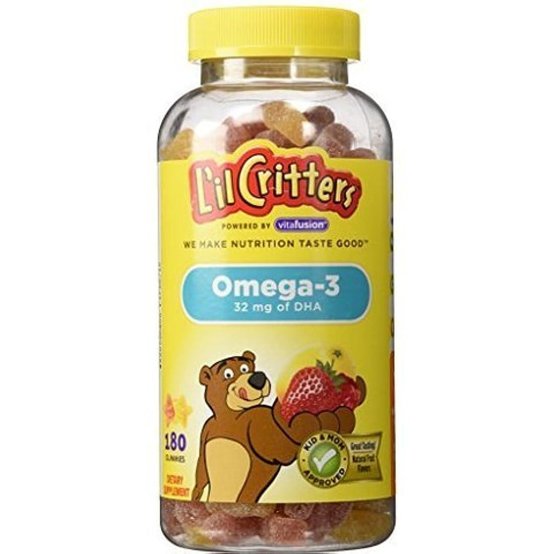 ボール見かけ上一貫性のないL'il Critters クルクリターズ 子供用ビタミングミ オメガ3 DHA 180粒 [並行輸入品]