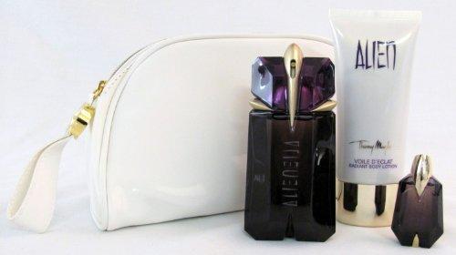 Alien By Thierry Mugler for Women 3 Piece Set: 2.0 Oz Eau De Parfum Spray   3.4 Oz Body Lotion   .2 Oz Miniature Eau De Parfum