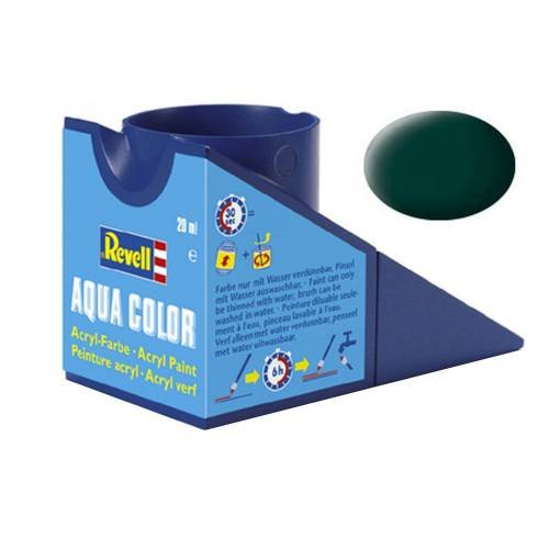 Revell Aqua Colore 36140 - Revell - Aquacolor Nero Verde, Opaco, 18 ml