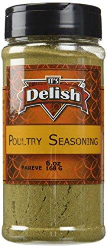 Poultry Seasoning by Its Delish, 6 Oz. Medium Jar