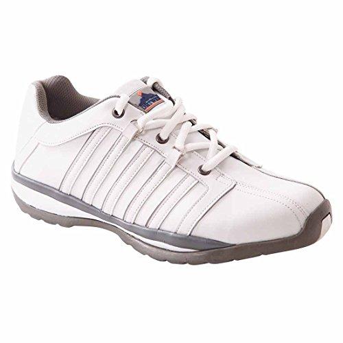 Arbeitsschuhe Sicherheitsschuhe S1P PORTWEST-ARX Leder Schuhgröße 36 Farbe: Weiß - 36 EU / 36 UK