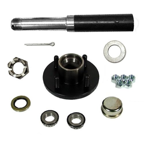"""SOUTHWEST WHEEL 2,000 lbs Trailer Axle Spindle with 4-4"""" Bolt Circle Hub"""