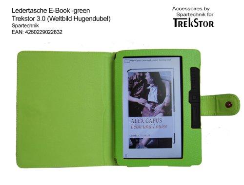 Spartechnik Grüne Tasche für Trekstor 3.0 von Hugendubel Weltbild Jonkers E-Book Reader - bestes Case für E-Book Reader Trekstor 3 - Elektronisches Buch Farbe - Gruen