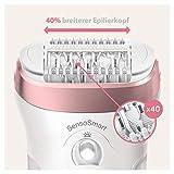 Braun Silk-épil 9 9-720 – Epilierer für Frauen für eine langanhaltende Haarentfernung, weiß/roségold - 2