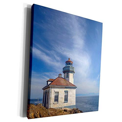 3dRose Danita Delimont - Lighthouses - Washington, San Juan Island, Lime Kiln Point Lighthouse. - Museum Grade Canvas Wrap (cw_279717_1)