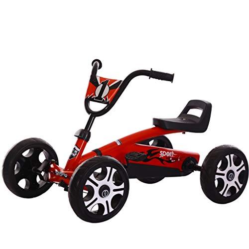 GYF Bicicleta de kart, para niños y bebés, ligera, para interior y exterior, color rojo