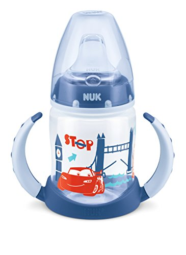 NUK Disney Cars First Choice Learner Cup mit Trinktülle Silikon, 150 ml