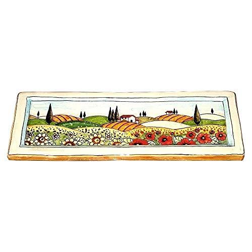 CERAMICHE D'ARTE PARRINI- Italienische Kunstkeramik, Fliese, Dekoration Toskanische Landschaften, handgemalt, hergestellt in Italien Toscana