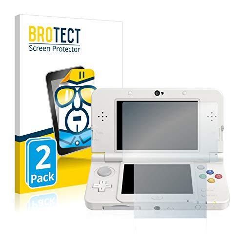 BROTECT Schutzfolie kompatibel mit Nintendo New 3DS (2 Stück) klare Displayschutz-Folie