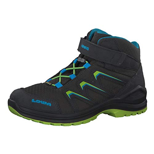 Lowa Maddox GTX Mid Junior - Graphite/Lime