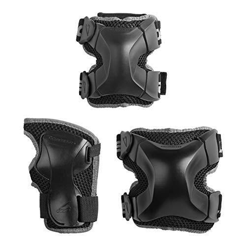 Rollerblade X-Gear 3 Pack Inliner Schoner, Schwarz, S