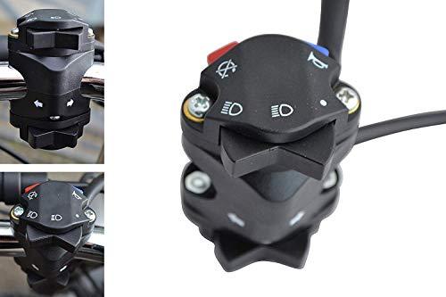 Motorrad Licht Hupe Kill Blinker Schalter für Motocross, Enduro, Supermoto - 22mm 7/8
