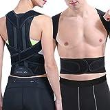 BOLLOVI Posture Corrector for Women Men, Effective Comfortable Adjustable Back Posture Brace Perfect