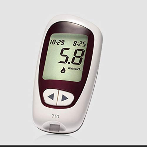 QYY Glucometro Diabete Medico, Test del glucosio Apparecchiature mediche domestiche Professionali Modello di misuratore di glucosio nel Sangue (Senza Strisce reattive e Aghi)