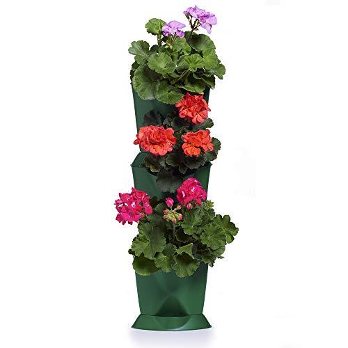 minigarden 1 Juego Corner para 3 Plantas, Jardines en los Rincones de tu Casa, Modular y Extensible, Colocar en el Suelo o Colgar en la Pared, Mecanismo de Drenaje Innovador (Verde)