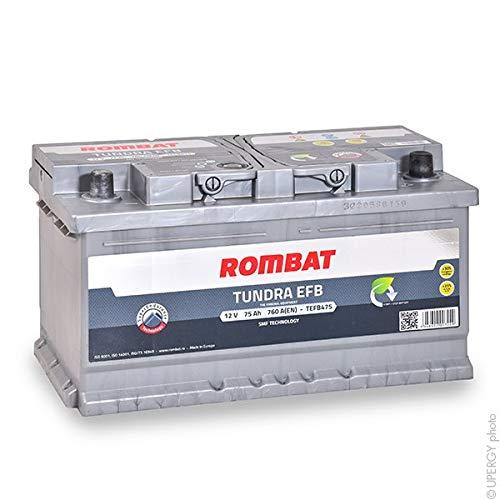 Rombat - Batería para Coche Tundra EFB TEFB475 12V 75Ah 760A