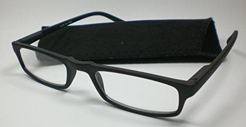 Halblebril in klassiek design + 3,0 diop. zwarte leesbril unisex