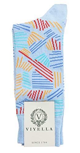 Viyella - Herren Socken aus Baumwolle, Hellblau, 1 Paar (UK 6-11)