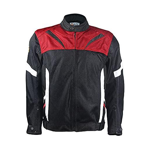 ZAYZ Hombres Toda La Temporada Chaqueta de Moto para Motociclistas Carreras de Deportes Duales Protector Blindado para Bicicletas (Color : Black, Size : L)