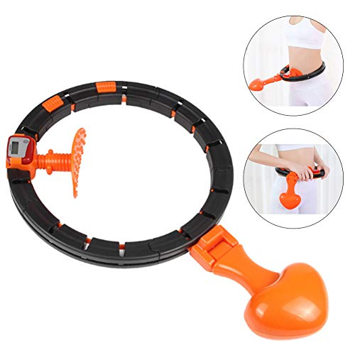 DankeSh Smart Hula Hoop Lose Weight Exercise for Adults Detachable & Will Not Fall Adjustable Hula Hoop with Smart Auto Counter for Waist Training Indoor & Outdoor Exercise Fitness