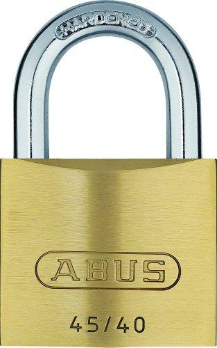 ABUS Vorhängeschloss 45/40 aus Messing - inkl. 5 Schlüssel - mit Präzisions-Stiftzylinder mit Pilzkopfstiften - inkl. 5 Schlüssel - 20075 - Level 4 - Messingfarben