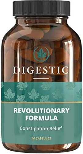 Digestic™ - Constipation IBS Relief - 100% Natural Ingredients - 30 Days Treatment - New Breakthrough Formula - IBS Supplement for Constipation, Bloating and Gas Relief. Organic & Vegan Laxative