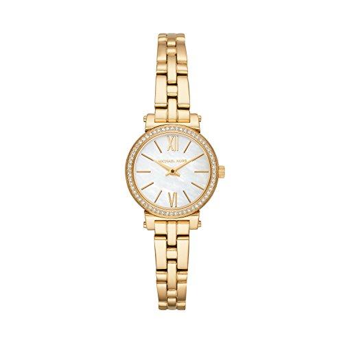 Michael Kors Damen Analog Quarz Uhr mit Edelstahl Armband MK3833