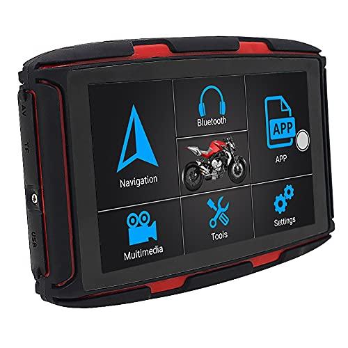 5 In Motorcycle GPS Navigator, Android 6.0 OS 1G + 16 GB, IPX7 Impermeabile, Mappa Gratuita, WiFi Di Supporto, MP3   MP4, Bluetooth, FM, Adatto Per Tutte Le Motocicli